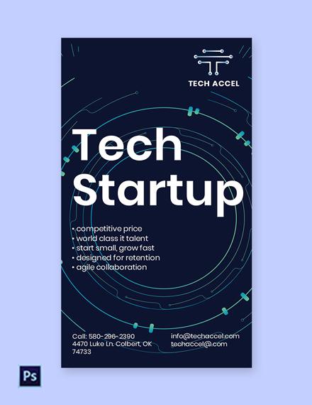 Free Tech Startup Whatsapp Template