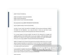 Free Administrative Assistant Recommendation Letter Template