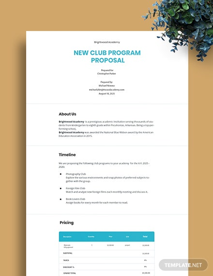 New Program Proposal Template