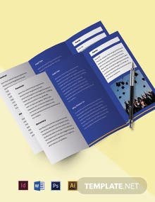 Tri-fold Private School Brochure Template