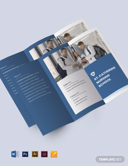 Tri-fold Nursing School Brochure Template