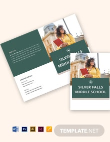 Bifold Private School Brochure Template
