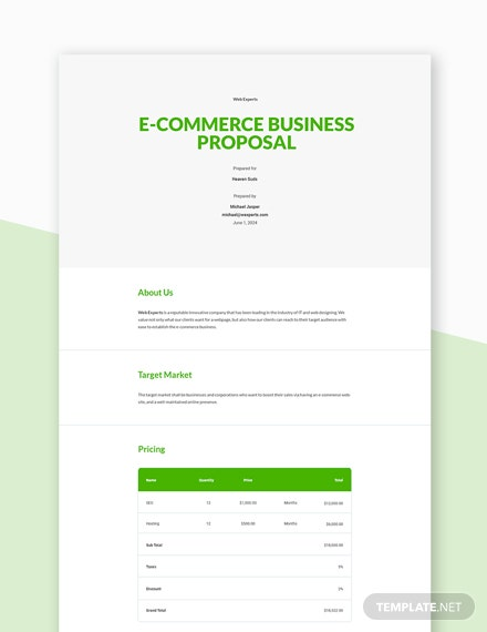 E-commerce Business Proposal Template