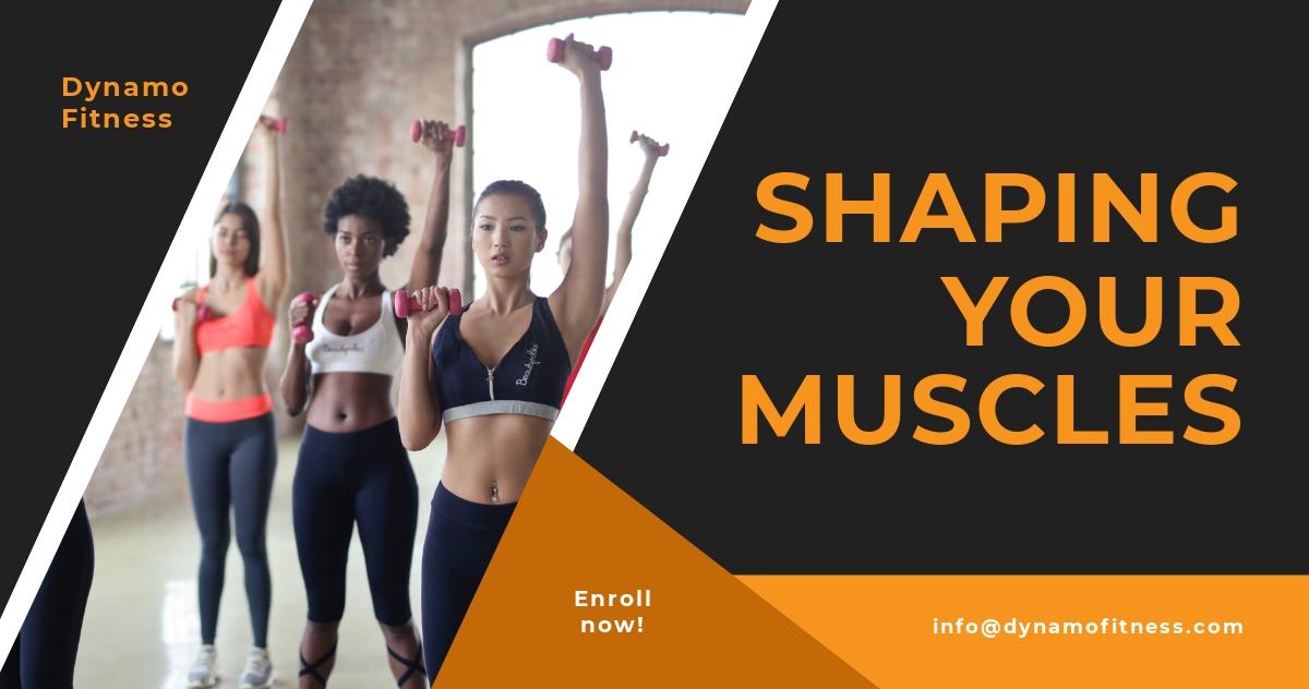 Fitness Studio Facebook Post Template