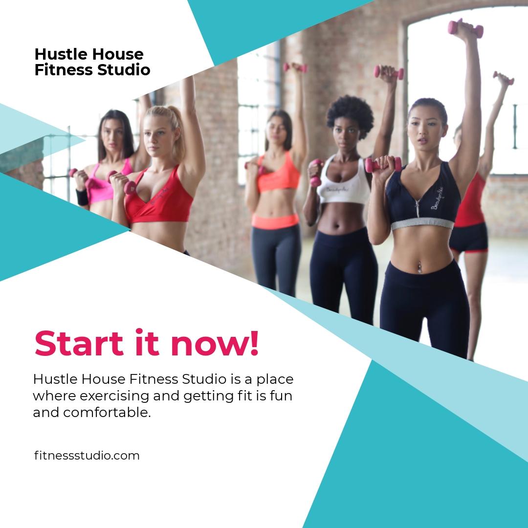 Fitness Studio Instagram Post Template