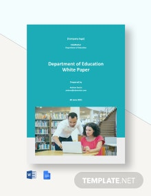 Department of Education White Paper Template