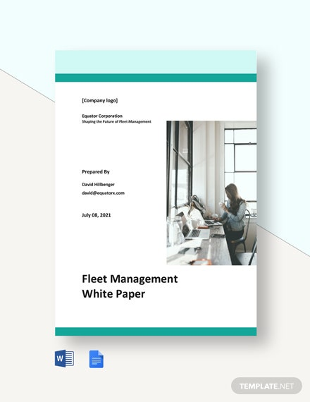 Fleet Management White Paper Template