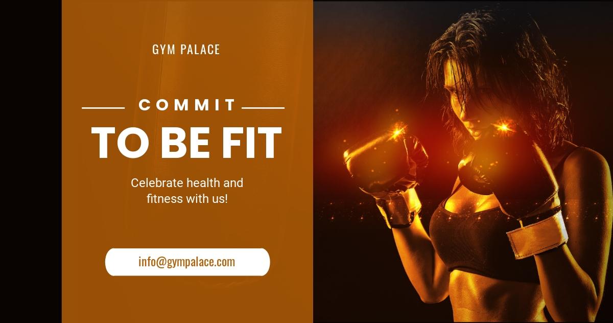 Fitness Studio Linkedin Post Template