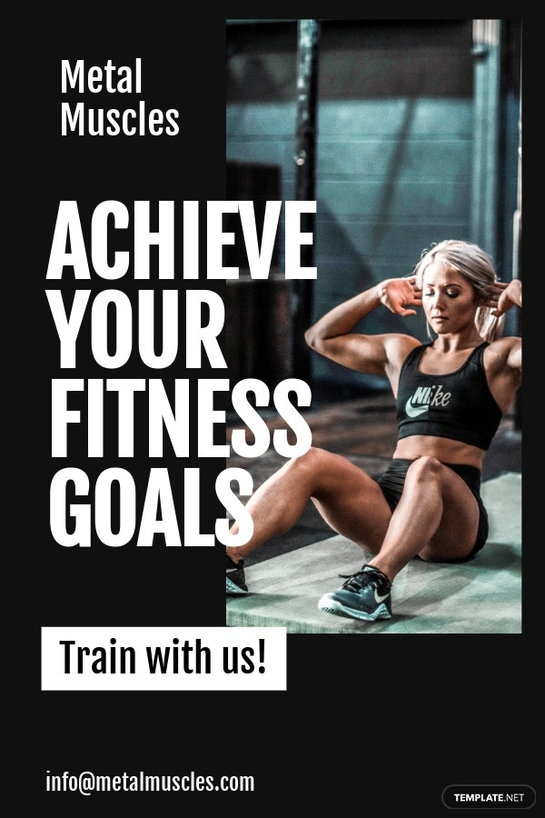 Fitness Studio Pinterest Pin Template [Free PSD]