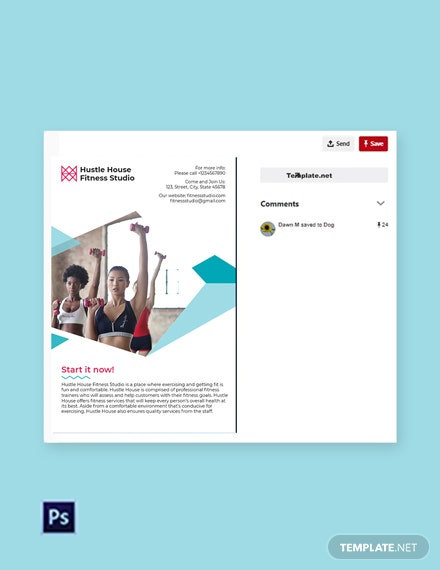 Free Fitness Studio Pinterest Pin Template