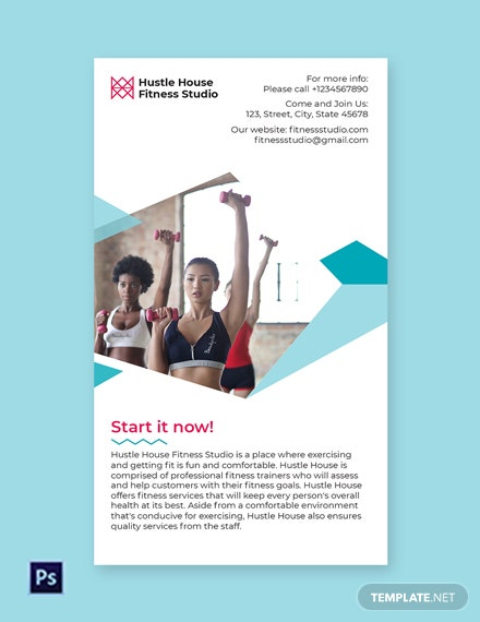 Free Fitness Studio Whatsapp Template