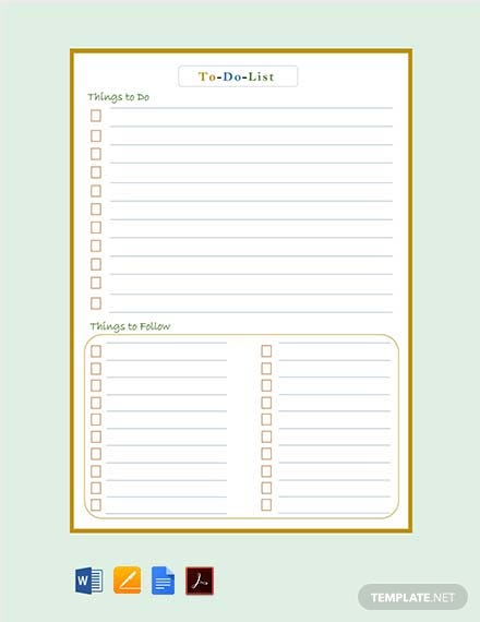 Free To-Do List Template