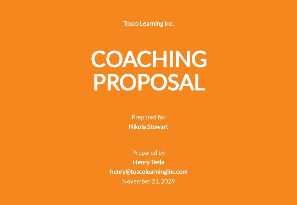 Coaching Proposal Template