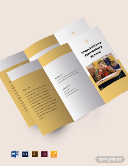 Tri-fold Elementary School Brochure Template