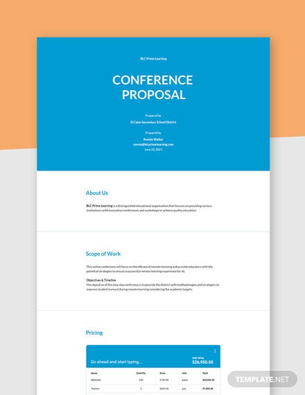 Sample Conference Proposal Template