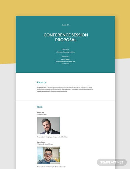 Conference Session Proposal Template