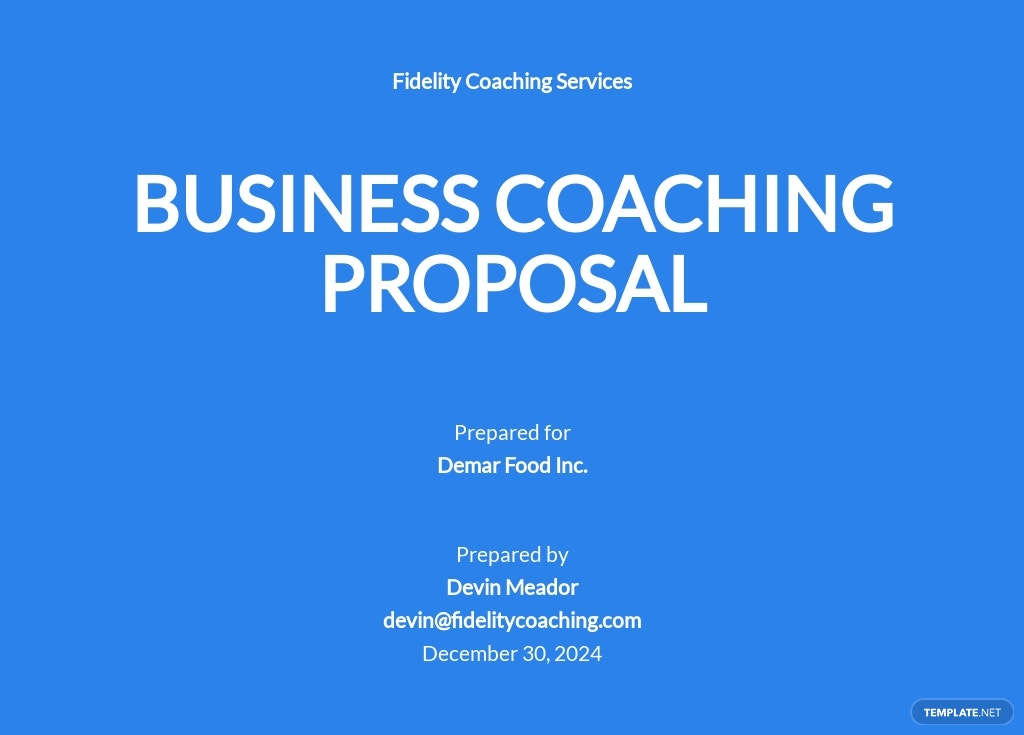 Business Coaching Proposal Template