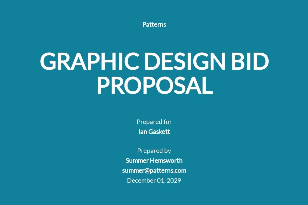 Graphic Design Bid Proposal Template