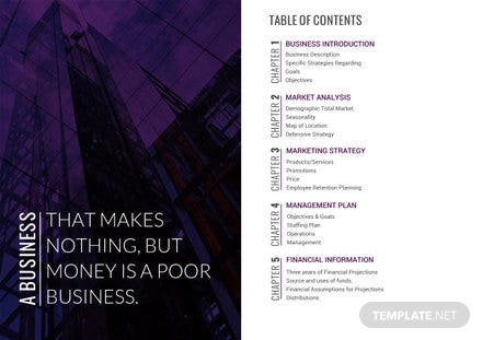 Book Table of Contents Template
