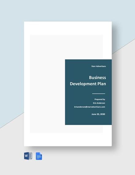 Advertising Agency Business Development Plan Template
