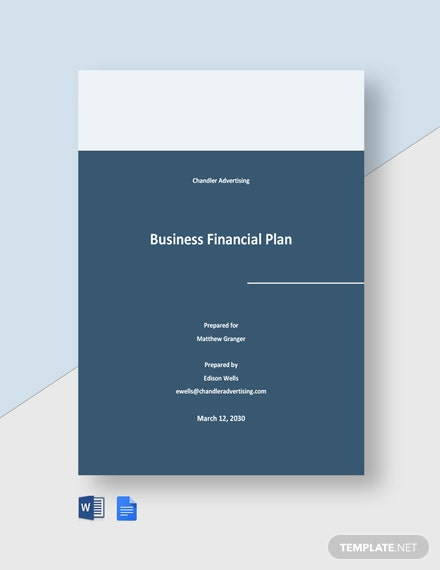 Advertising Agency Financial Plan Template