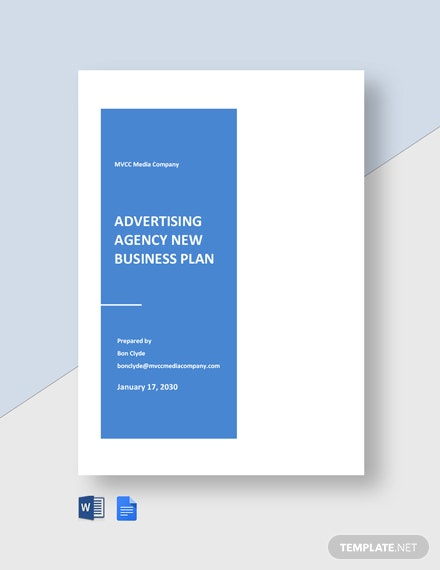 Advertising agency new business plan