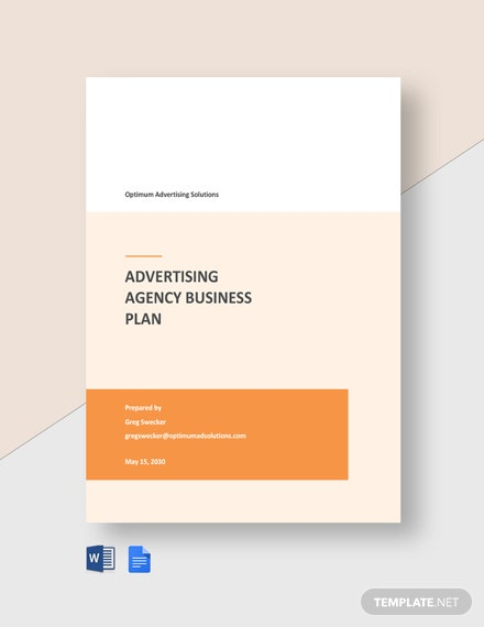 Free Sample Advertising Agency Business Plan Template