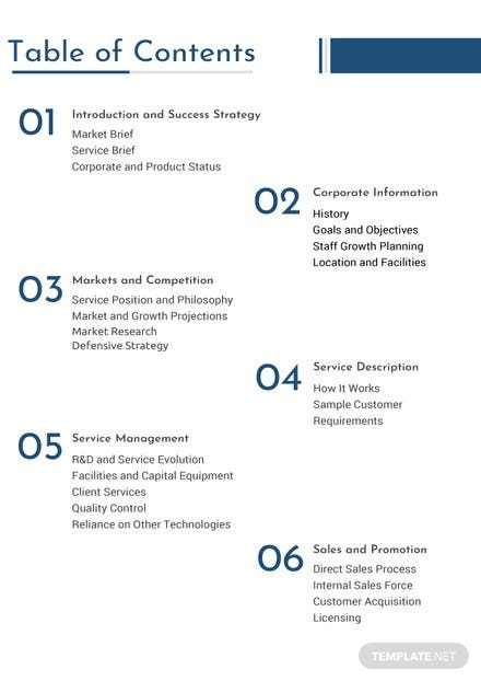 Business plan table of contents template in microsoft word apple business plan table of contents template accmission Gallery