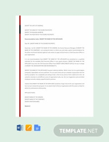Free CEO Recommendation Letter Template