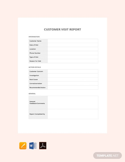 Free Customer Visit Report Template 440x570 1