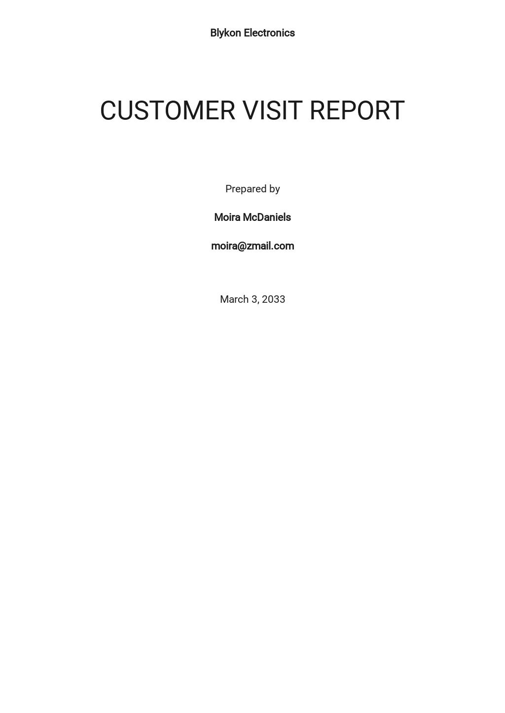 Free Customer Visit Report Template.jpe