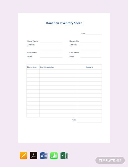 FreeDonationInventoryTemplate