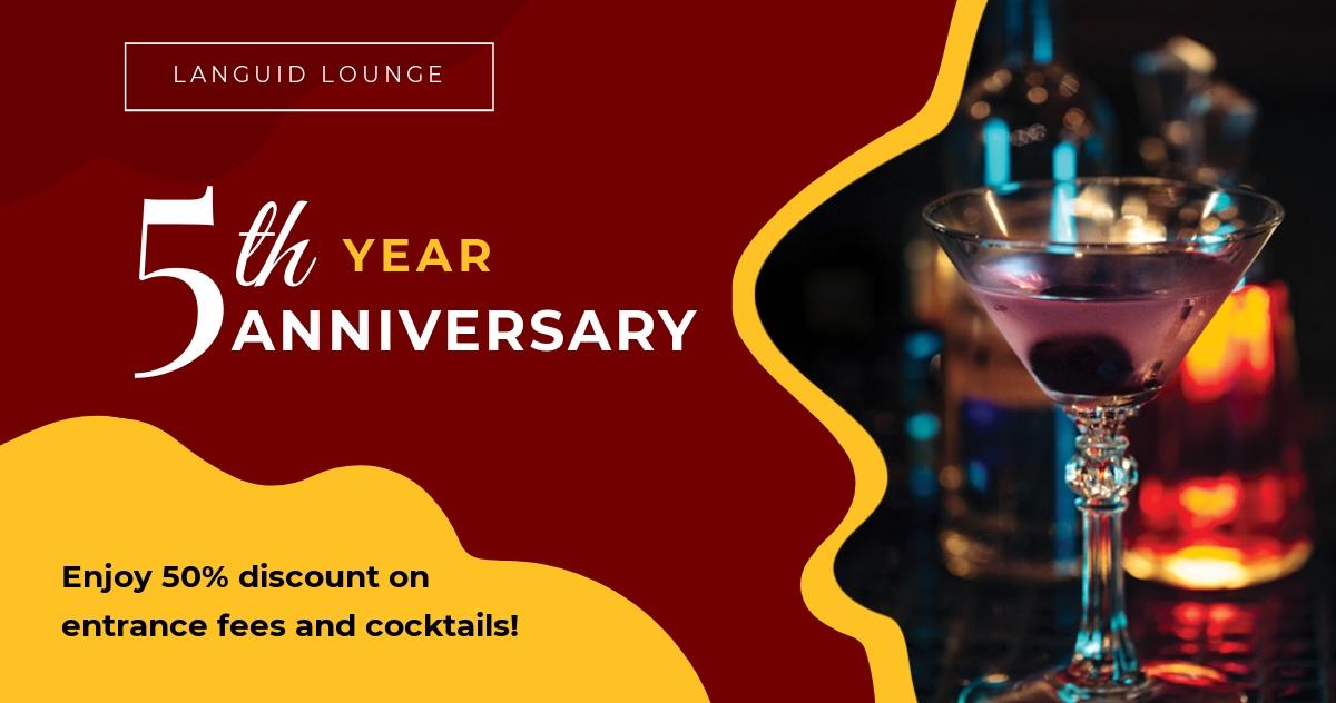 Bar/Lounge Facebook Post Template