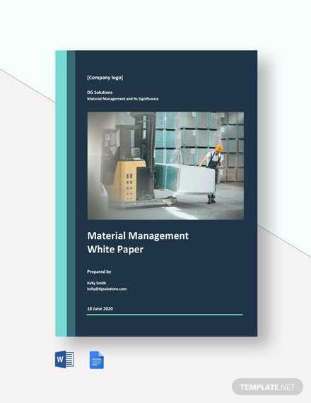 Material Management White Paper Template