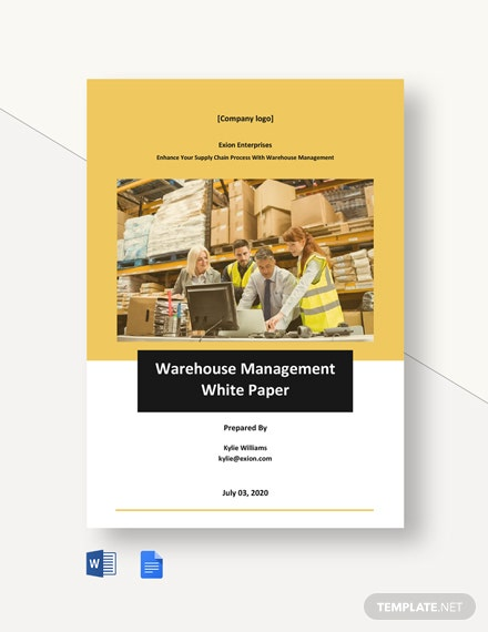 Warehouse Management White Paper Template