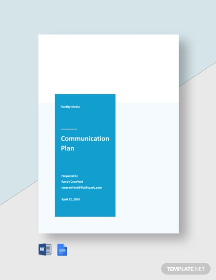 Advertising Agency Communication Plan Template