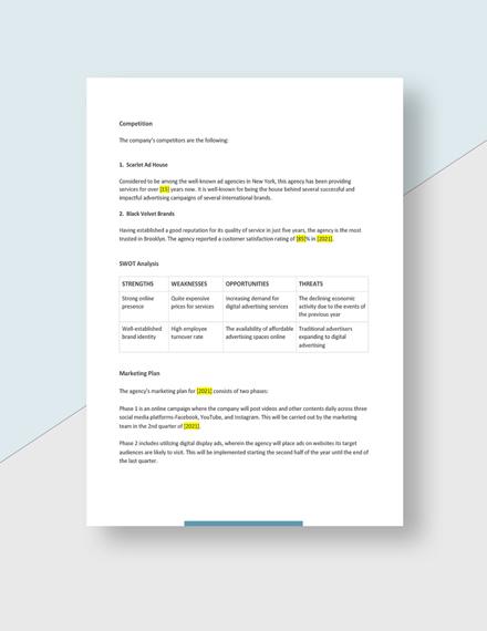 Digital Advertising Agency Business Plan Download