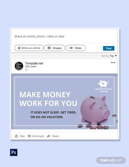 Free Investment Fund Linkedin Post Template