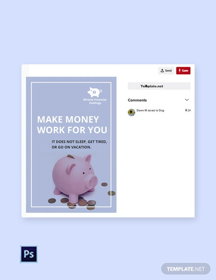 Free Investment Fund Pinterest Pin Template