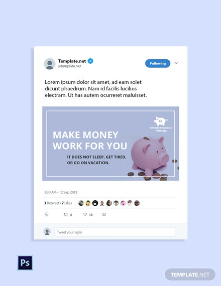 Free Investment Fund Twitter Post Template