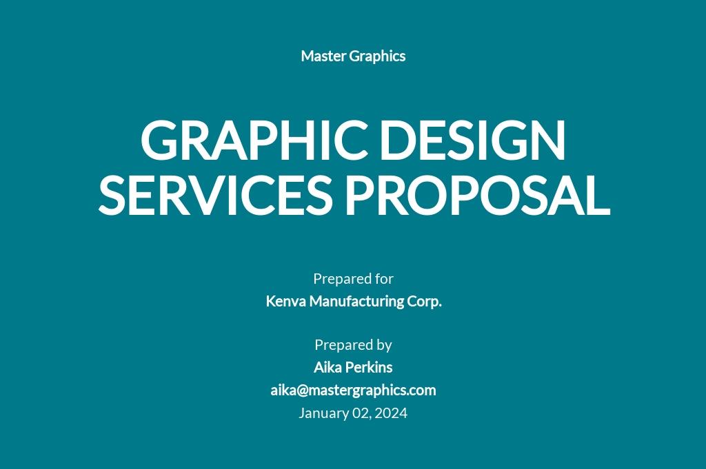 Graphic Design Proposal Sample Template