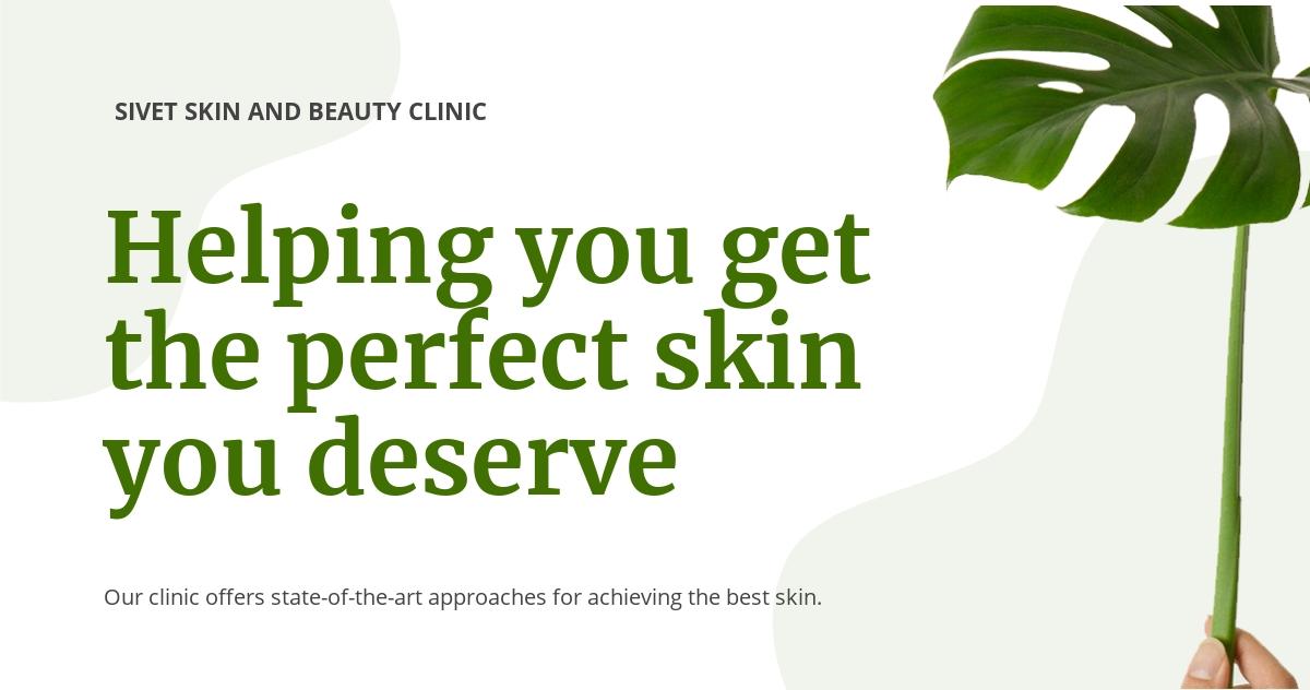 Skin Beauty clinic Linkedin Post Template