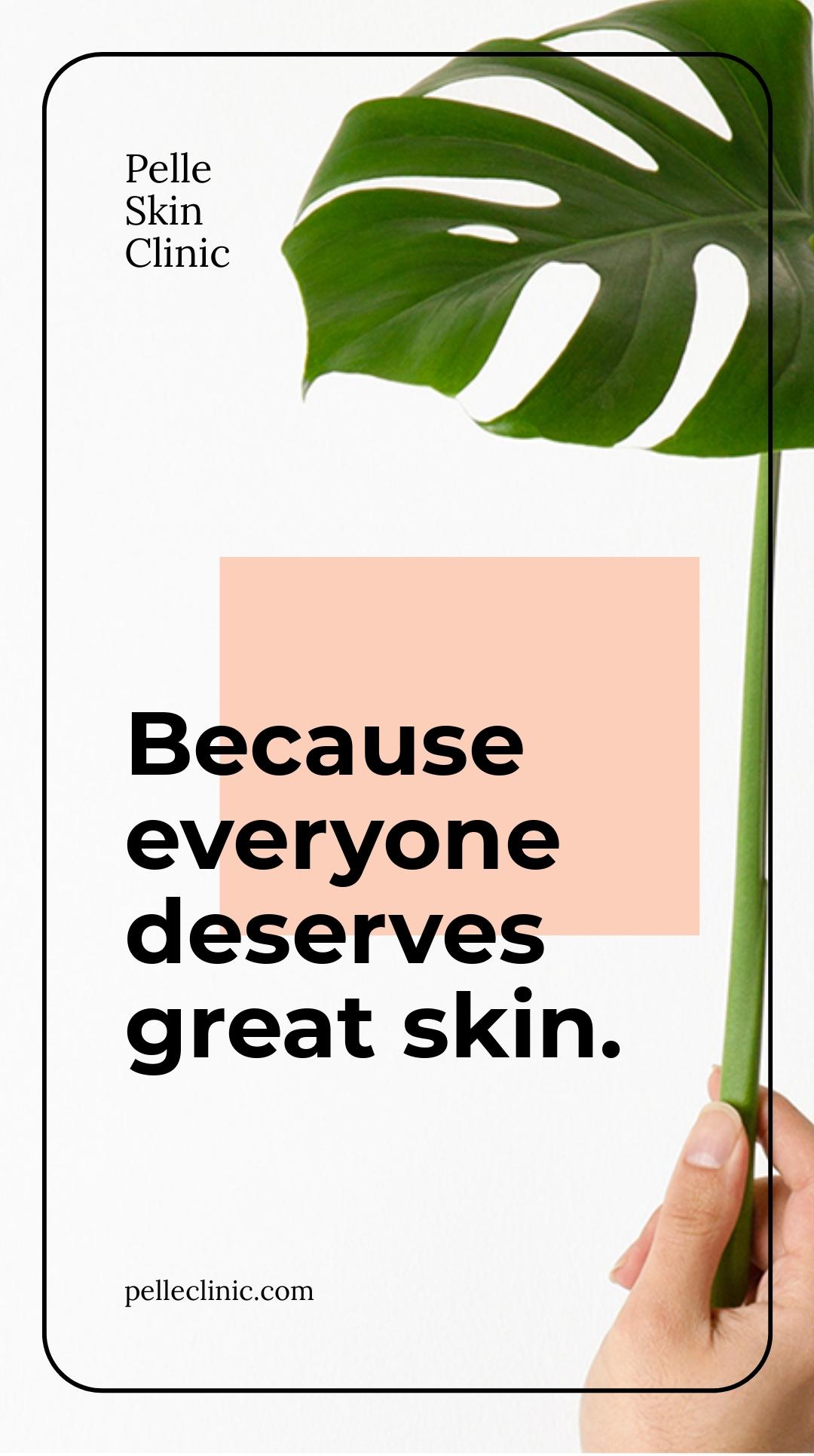 Free Skin Beauty clinic Whatsapp Template.jpe