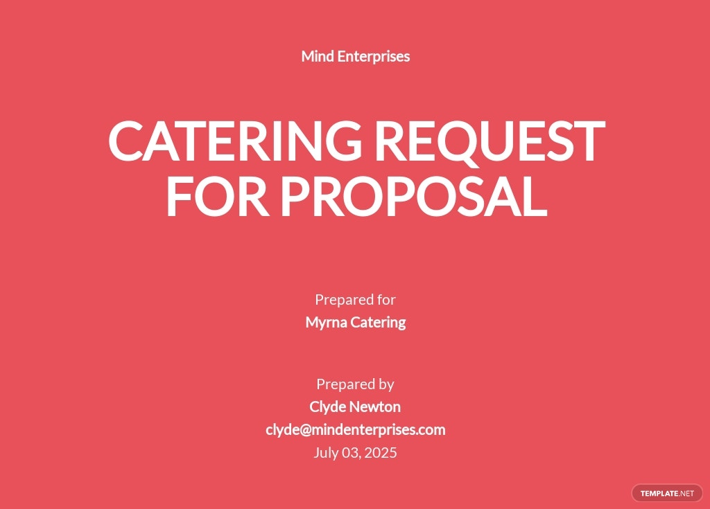 Catering Request for Proposal Template
