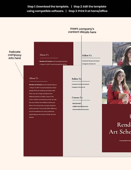 Free Elegant Trifold School Brochure Template sample