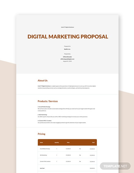 Digital Agency Proposal Template