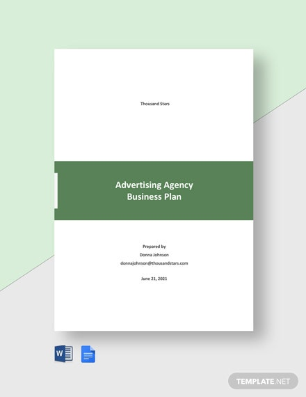Editable Advertising Agency Business Plan Template