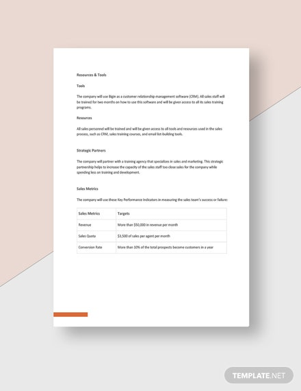 Simple Advertising agency sales plan