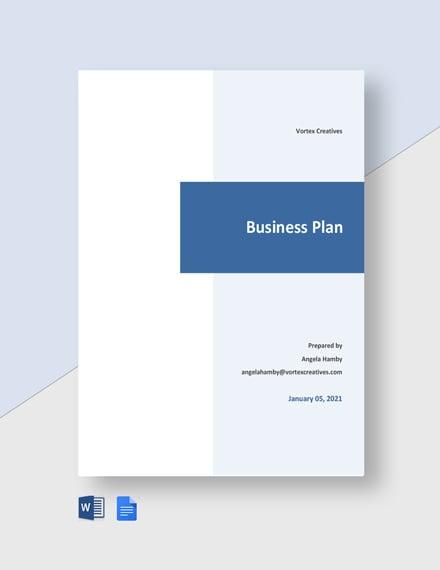 Sample Advertising Agency Business Plan Template