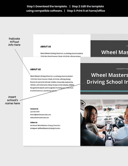 Free Modern Bifold School Brochure Template sample
